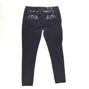 "Miss Me black easy skinny jeans size 32"""